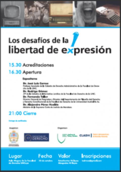 """Jornada: """"Los desafíos de la Libertad de Expresión"""""""
