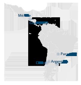 mapa latin