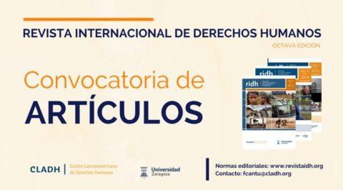 Convocatoria abierta para publicar en la Revista Internacional de Derechos Humanos