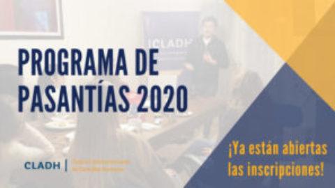 Convocatoria Pasantías CLADH 2020